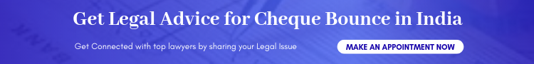 Get Legal Advice for cheque bounce in india